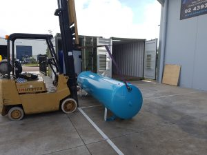 Container Project - Pipework Install - Air Receiver