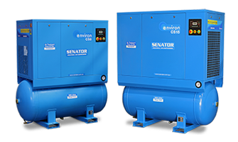 CS-Series-Category-4-in-1 air stations feature a rotary screw compressor, refrigerant dryer and both pre- and post-filters in a single package