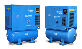 CSV-Series 4-in-1 industrial compressed air stations with energy-saving variable speed drive technology.