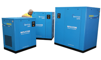 ls-series for medium-to-large industrial applications with continuous compressed air demand and working pressure of up to 10 bar