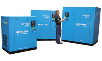 lsv-series incorporates state-of-the-art variable speed drive technology that saves energy by adjusting the compressor's output to match fluctuating air demand